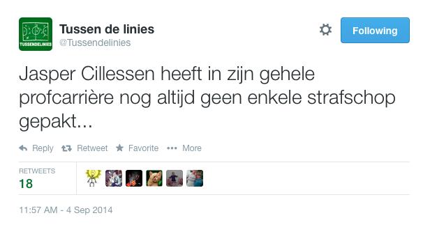 Tweet van Tussendelinies.nl