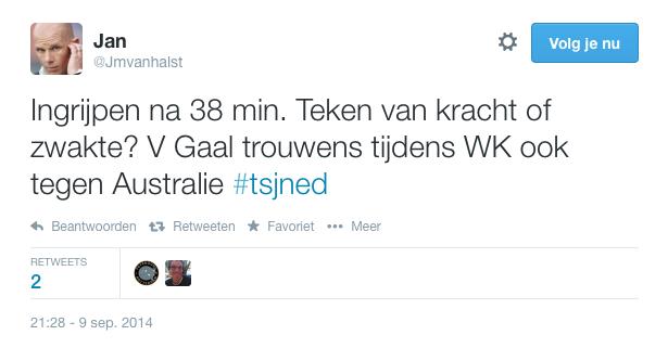Tweet van Jan van Halst